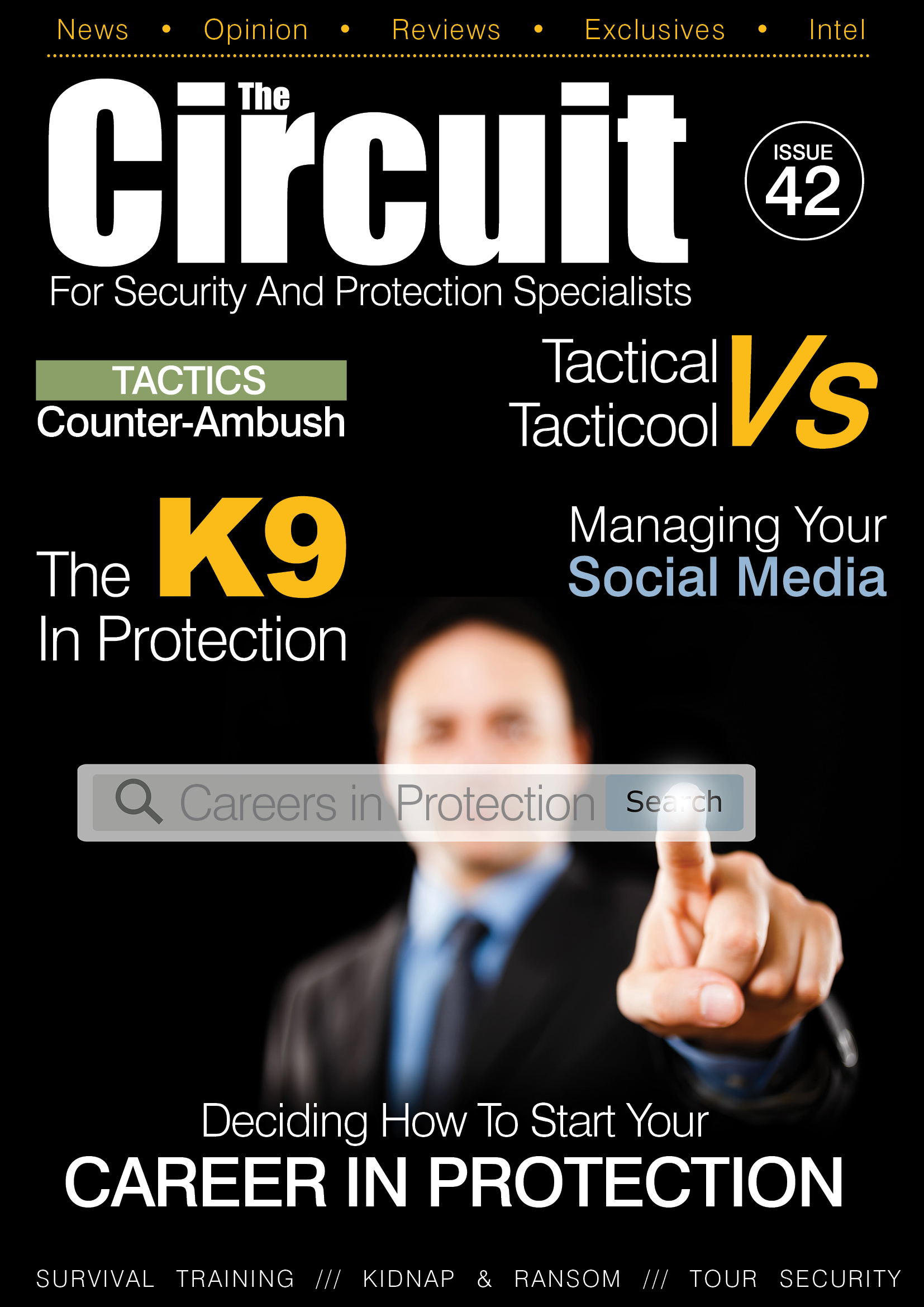 Issue 42 cover of Circuit Magazine showing a CPO searching online